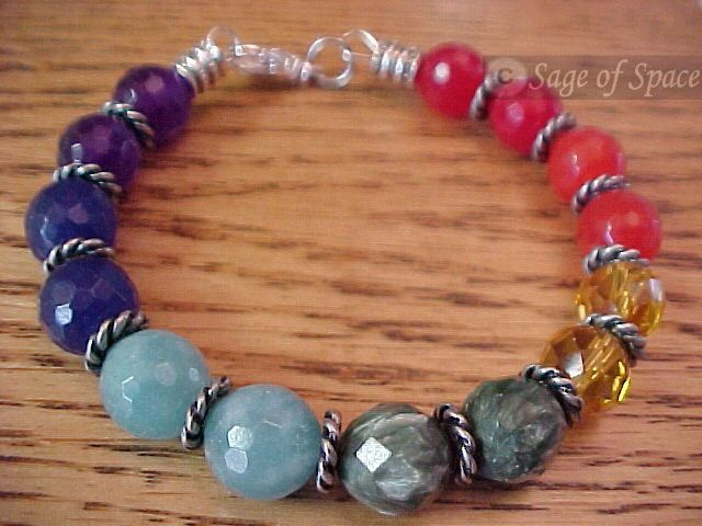 7 Chakra Bracelet crafted by an Energy Psychic